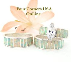 Navajo Wedding Rings and Bands Four Corners USA OnLine http://www.fourcornersusaonline.com/Engagement-Wedding-Rings.html