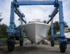 Large Boat Lift - High Quality Travel LIft From Good Manufacture Boat Hoist, Boats, Travel, Viajes, Ships, Destinations, Traveling, Trips, Boat