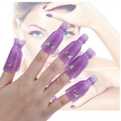 10pcs UV Gel Theme Beauty Polish Remover Clip Cap Color Purple * Be sure to check out this awesome product.