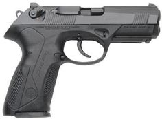 Beretta PX4 .40 cal. - Tex's offering to Michael.  With a rotating locking barrel and straight back, muted recoil, this weapon is one of the best and easiest controlled hand guns in the world.