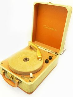 Vintage Columbia portable record player.