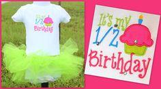"""It's my 1/2 Birthday"" Set. Visit www.facebook.com/PrincessWiggleBottom to see more!"