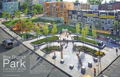 Box District Park featured in Landscape Architect and Specifier News — CBA Landscape Architects, LLC New Urbanism, Landscape And Urbanism, Landscape Elements, Park Landscape, Urban Landscape, Landscape Design, Landscape Architects, Brick Architecture, Urban Architecture