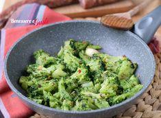 Broccoli in padella alla romana ricetta contorno facile e veloce con broccoli romani. Idea contorno per tanti secondi piatti