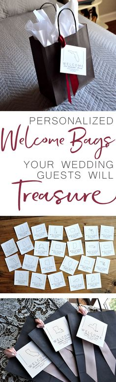 These gray paper bags are such a personal way to thank your out of town wedding guests for their love and support on your special day! is part of Little Humming Bird tattoos - Little Humming Bird tattoos Wedding Tips, Fall Wedding, Rustic Wedding, Our Wedding, Wedding Planning, Dream Wedding, Trendy Wedding, Wedding Welcome Gifts, Wedding Wishes