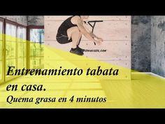 Quema grasa en 4 MINUTOS con el método tabata (VIDEO) - Adelgazar - Bajar de Peso