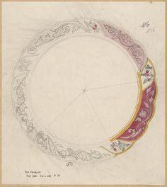 [Projet pour une assiette-plateau] | Centre de documentation des musées - Les Arts Décoratifs