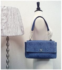 Vintage Chanel denim & clear COCO shoulder bag www.hedyjp.com