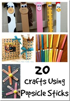 20 Crafts Crafts Using Popsicle Sticks