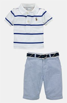 For 6 month photos Ralph Lauren Polo & Pants (Baby) available at #Nordstrom