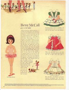 Betsy McCall paper doll 1960