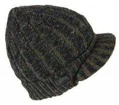 42c76745d0b860 Peter Grimm: Aussie black knit visor beanie. Features an added fleece band  on the inside to keep your ears toasty. 100% acrylic. One size. $19.99 USD