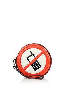 Anya Hindmarch Hadlow No Mobile Leather Wristlet