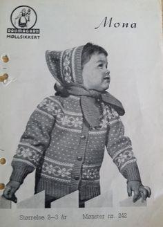 Mona 242 Norwegian Knitting, Baby Knitting, Children, Kids, Winter Hats, Men Sweater, Stitch, Retro, Barn