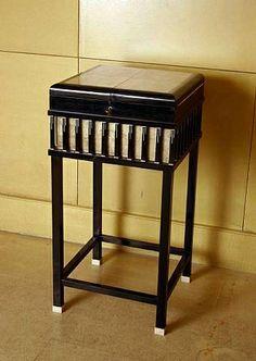 TITLE: Petit meuble de rangement en ébène, galuchat et ivoire  ARTIST:André Groult (French, 1884–1967) WORK DATE: circa 1920