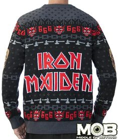 Christmas Jumpers, Ugly Christmas Sweater, Christmas Clothes, Iron Maiden, Ugly Sweater, Sweater Shirt, Heavy Metal Christmas, Kids Frocks Design, Frock Design