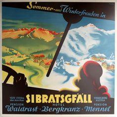 Printed by Steindruckerei Dornbiza. Excellent condition. Austria, 1930s Dimensions: 49.5x49.5 centimetres. Artist or Maker: Kersten