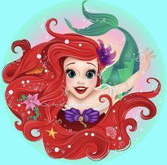 Disney Princess Tattoo, Disney Princess Ariel, Princess Art, Punk Princess, Disney Princesses, Tinkerbell Disney, Disney Little Mermaids, Ariel The Little Mermaid, Mermaid Wallpapers