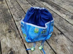 Small  KNITTING / CROCHET  Project Bag by StitchedNaturally, $35.00