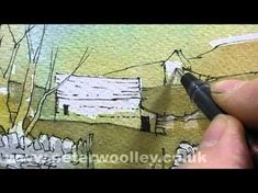 Nice tutorial on pen and watercolor -- #watercolorarts