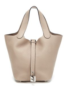 Gris Tourterelle Clemence Picotin Lock Bag PM by Hermès on Gilt.com