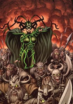 Inspiration for Hela, daughter of Loki cosplay.