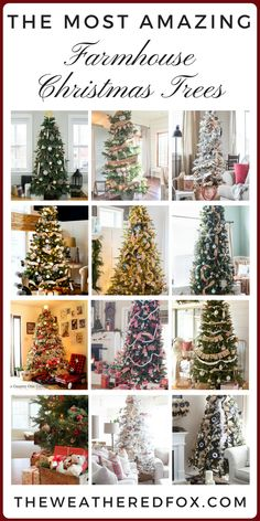 amazing farmhouse christmas trees - Farmhouse Christmas Decorating Ideas