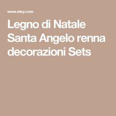 Legno di Natale Santa Angelo renna decorazioni Sets