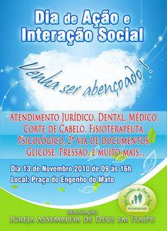Dia da Ação Social - Panfleto 10x15