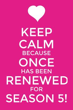 Yay Oncers!! It's official!! Once has been renewed for season 5!! I know this means hiatus but hiatus is better than the show ending!!! Let's celebrate!!