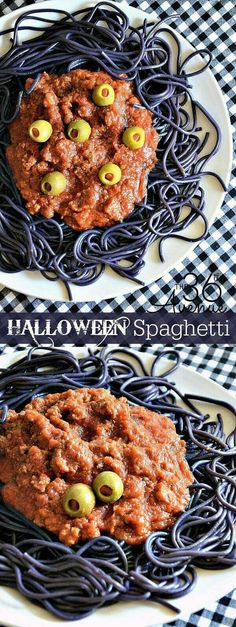 Halloween spaghetti....maybe dye with olives? Or purple cabbage?