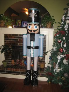 nutcracker about 6'6 tall with paper mache head