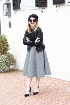 Lovely grey midi skirt