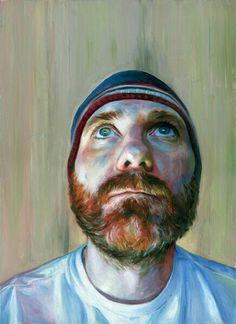 Robert Hannaford- 'self-portrait with beard.'