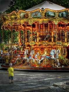 Like a Moth to a Flame (by Douglas J Fisher)..so me...love the carousel no matter where we find one...