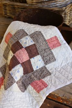 Antique doll quilt by http://www.quiltingstories.blogspot.com/2014/04/antique-doll-quilt-and-bunny-beatrix-potter.html