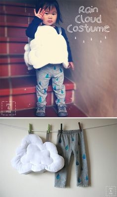 DIY rain cloud costume. I know it's meant for a child but this is what I want to be for Halloween.