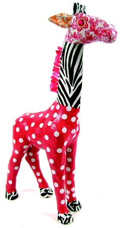 Decorate your own XL papier mache item and sell raffle tickets to win the item. Paper Mache Projects, Paper Mache Crafts, Quilling Paper Craft, Raffle Tickets, Sell Tickets, Paper Clay, Paper Art, Decopatch Ideas, Giraffe Crafts