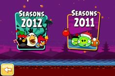 Angry Birds Season Mobile Screenshot, Angry Birds Seasons