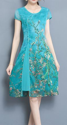 Women's Party Office/Career Daily Casual/Daily Vintage Chinese Style Dress