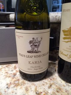 Stags Leap Karia Chardonnay.  Delicious!  From Crown Liquors