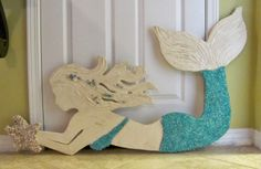 Outdoor Mosaic Sea Shell and Crushed Glass Mermaids and Sea Turtles Made from Wedi Board --Tutorial
