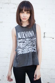 Brandy ♥ Melville | Kate Nirvana Tank - Graphics
