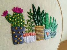 Items similar to Cactus Embroidery Hoop Art / Succulents / H.- Cactus Embroidery Hoop Art / Succulents / by LittleFlossStudio - Cactus Embroidery, Embroidery Hoop Art, Hand Embroidery Patterns, Vintage Embroidery, Cross Stitch Embroidery, Machine Embroidery, Embroidered Cactus, Cactus Craft, Cactus Cactus