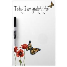 Gratitude dry-erase board for your fridge.  The perfect gift...