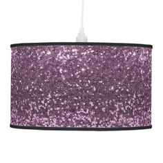 Purple Glitter Table & Pendant Lamps | Zazzle