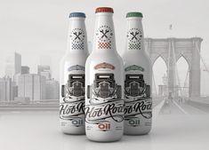 O Lindo Lettering & Design de Embalagem da Hot Rod Oil Beer!   Temporal…