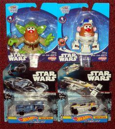 Hasbro - Mini Star Wars Mr. Potato Head Yoda & R2-D2 Mattel - Hot Wheels Star Wars TIE Advanced X1 Prototype & The Ghost Carships