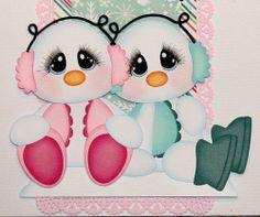 muñecos de nieve tiernos
