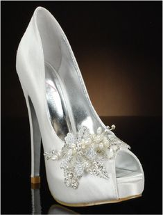 25a6a5b2e002 White Bridal Embellished shoes - size 10 only Yellow Wedding Shoes